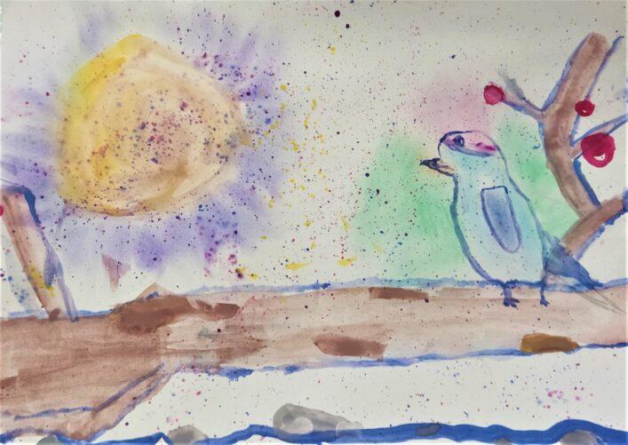 Zimní Zátiší S Ptáčkem Bára Weinfurtová